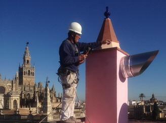 Construccion chimenea evacuacion de gases, Ateca 5