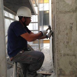 Reparación de frente de forjados en Hotel Macarena - Ateca Trabajos Verticales S.L.