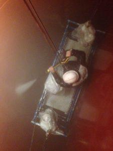 limpieza silo chorro de agua ateca - Granallado de un silo de árido