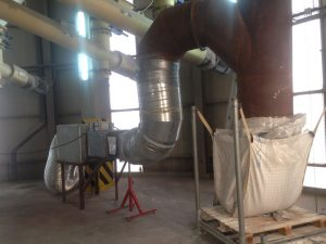 ventilacion forzada silo ateca - Granallado de un silo de árido
