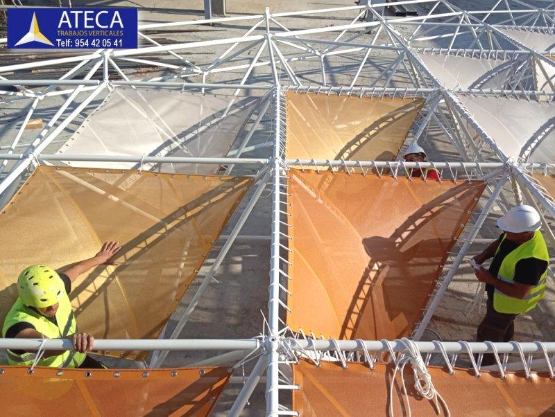 Montaje estructura arquitectura tensil 2