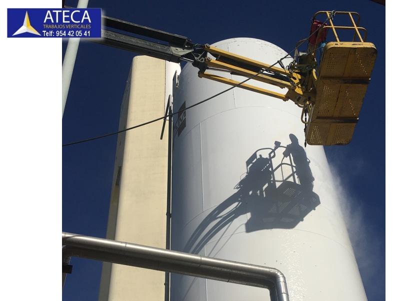Pintura industrial tanques de gas liquado 4