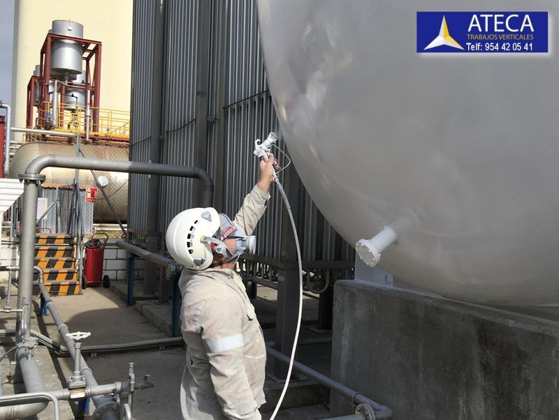 Pintura industrial tanques de gas liquado 5
