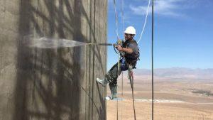 Torre Solar Noor en Marruecos- Aplicando pintura de escudo de protección - Ateca Trabajdos Verticales S.L.