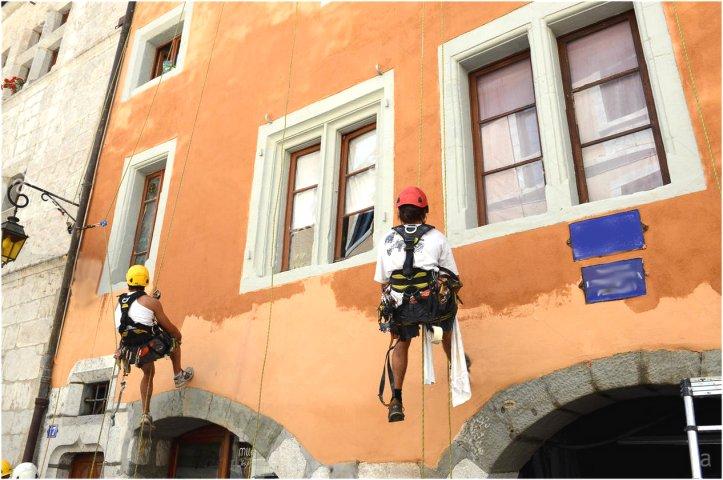Pintores en fachada Ateca Trabajos Verticales