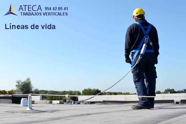 Lineas de vida en Sevilla - Ateca Trabajos Verticales