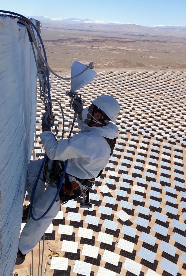 Planta solar Noor 3 Marruecos Escudos de Protección Ateca Trabajos Verticales 4