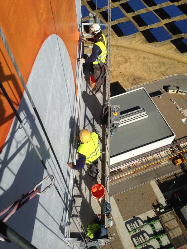 rotulacion torre termo solar ateca trabajos verticales