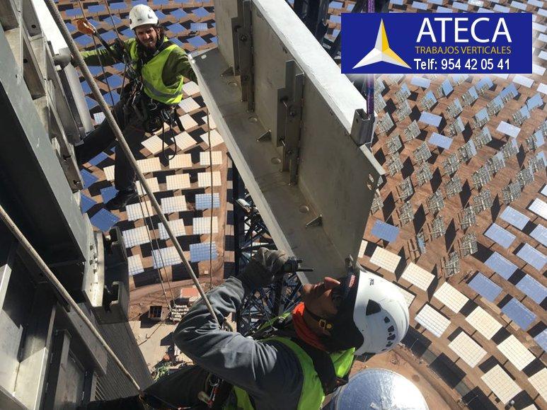 Planta solar Noor 3 Marruecos Escudos de Protección Ateca Trabajos Verticales 3