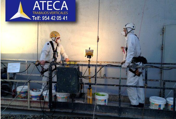 Rotulación Torre PS20 Sanlucar la Mayor - Ateca Trabajos Verticales 1
