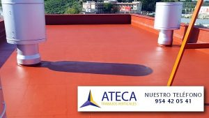 Impermeabilizacion de cubiertas FACHADAS caucho en Antequera