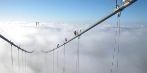 Lineas de vida en puentes colgantes