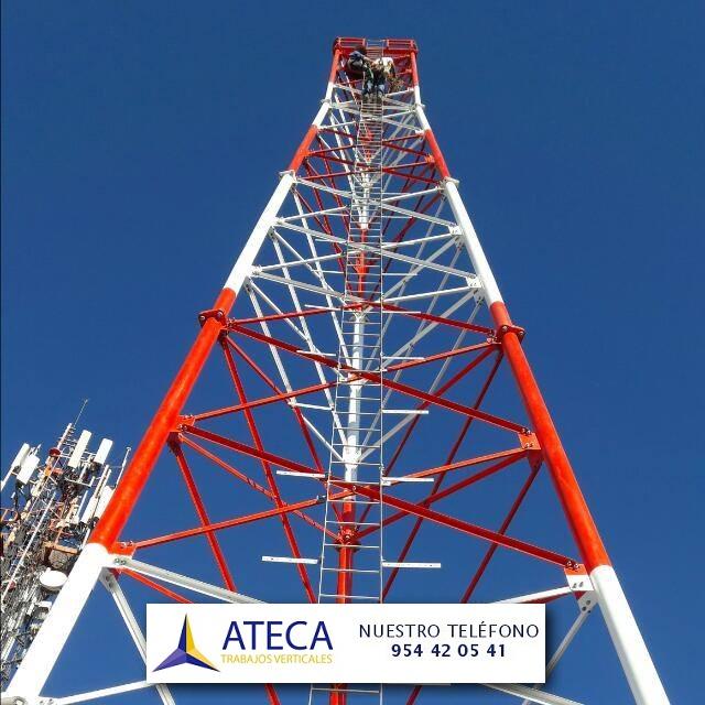 Pintado de torres industriales Ateca